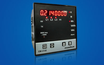 Power Monitoring Meters Manufacturers Multi Function Meter 2040 for Mining, Solar Power generation distribution, Oil & gas Industries, Chemical Inductries in India.