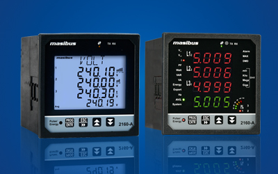 Power Monitoring Multi Function Meters 2160A manufactured by Masibus Industrial Automation Instrumentation Uttar Pradesh Kolkata, Hyderabad, Delhifor Solar Power Generation, Oil Gas, Mining, Industries In Gujarat, Karnataka, Maharashtra, Delhi Tamil Nadu,
